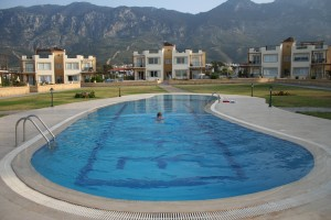 our pool at The Pines north cyprus