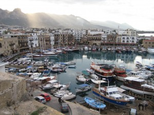 The picturesque harbour in Kyrenia