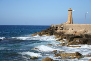 The harbour wall in Kyrenia